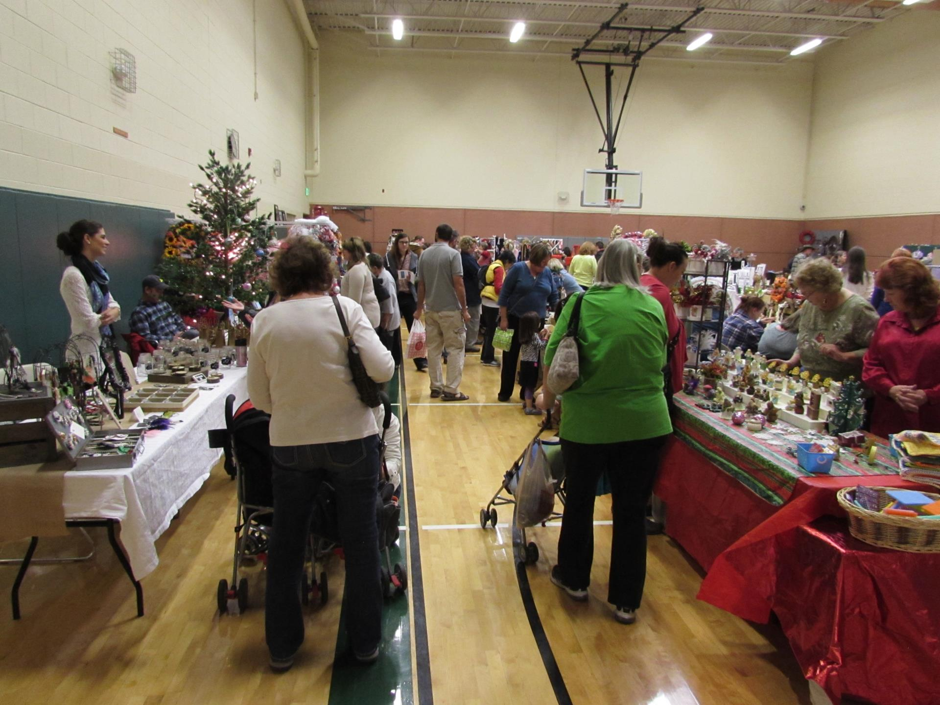 Holiday Shoppers at the Malley Holiday Bazaar