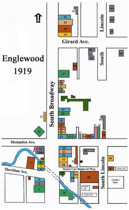 Historical map of Englewood, circa 1919
